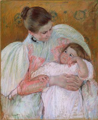 Drawing - Nurse And Child by Mary Stevenson Cassatt
