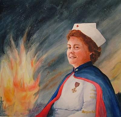 Nurse Arvin Art Print by Mary Lou Hall
