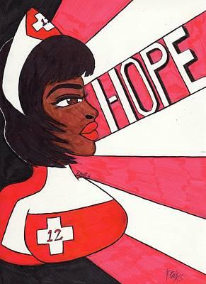 Nurse Laura Hope Print by Ronald Woods