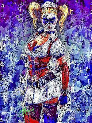 Mixed Media - Nurse Harley Quinn by Al Matra