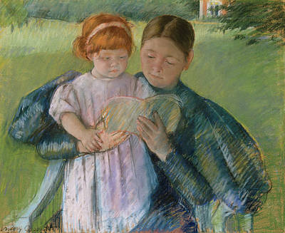 Infant Painting - Nurse Reading To A Little Girl by Mary Cassatt