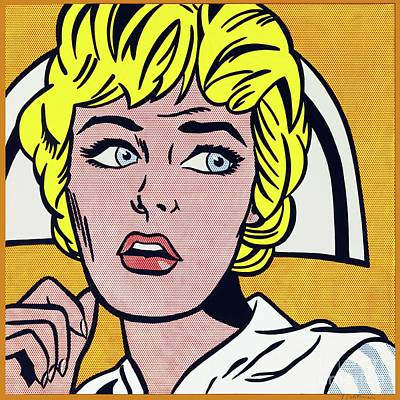 Photograph - Nurse by Roy Lichtenstein