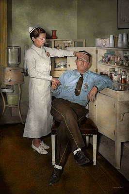 Nurse - Sick Day - 1937 Print by Mike Savad