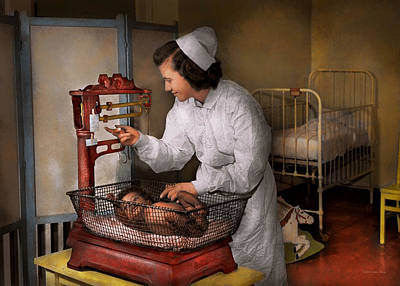 Photograph - Nurse - The Pediatrics Ward 1943 by Mike Savad