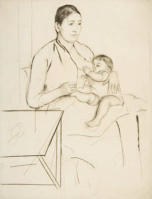 Relief - Nursing by Mary Cassatt