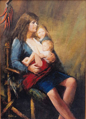 This Work Is Sold Painting - Nursing Mother  Mamma Che Allatta  by Gianni G Gaeta