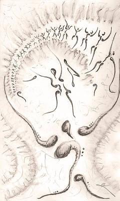 Crying Drawing - Nurture by Matthew Blum