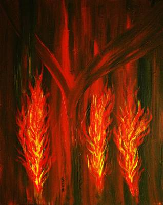 Mixed Media - Nurture The Fire Within You Number Two by Scott Haley