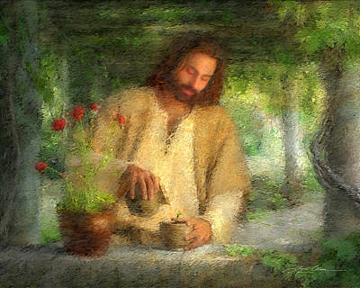 Water Garden Wall Art - Painting - Nurtured By The Word by Greg Olsen