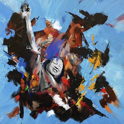 Culture Painting - Nusrat Fateh Ali Khan 188 I by Mawra Tahreem