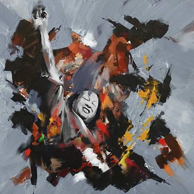 Music Artist Painting - Nusrat Fateh Ali Khan 188 Iv by Mawra Tahreem