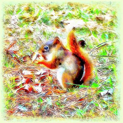 Digital Art - Nut N Honey by Leslie Montgomery
