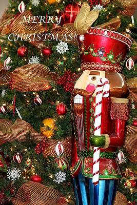 Photograph - Nutcracker And Christmas Tree by Sheila Brown