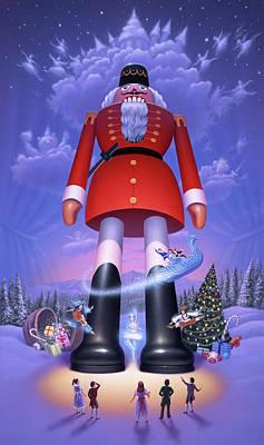 December Digital Art - Nutcracker by Jerry LoFaro