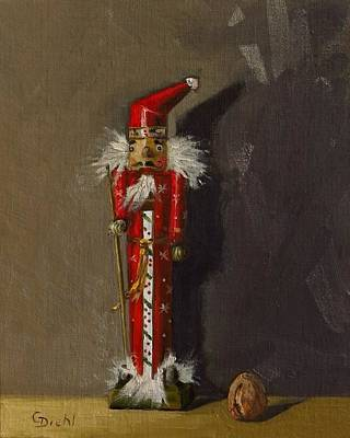 Painting - The Santa Nutcracker by Grace Diehl