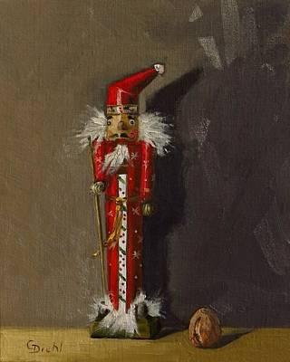Painting - The Santa Nutcracker by Grace Diehl