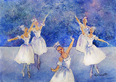 Painting - Nutcracker Snow Queen Dance by Kathleen  Gwinnett