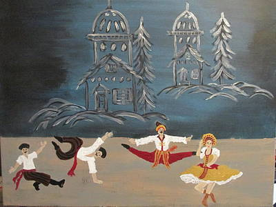 Painting - Nutcrackers Dance Of Russian Cossacks by Sharyn Winters