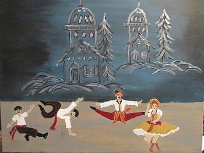 Painting - Nutcrackers Dance Of Russian Cossacks by Sharyn Winters