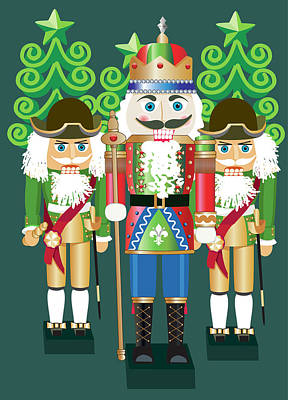 Digital Art - Nutcrackers by Melinda Patrick