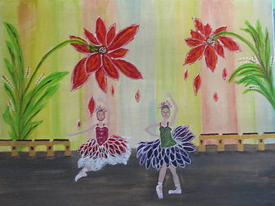 Painting - Nutcrackers Waltz Of The Flowers by Sharyn Winters