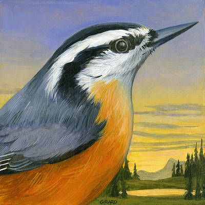 Nuthatch Painting - Nuthatch by Francois Girard