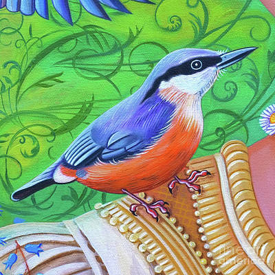 Nuthatch Wall Art - Painting - Nuthatch by Jane Tattersfield