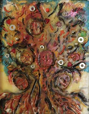 Mixed Media - Nuts And Bolts by Gitta Brewster