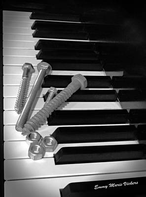 Piano Photograph - Nuts And Bolts Of Playing The Piano 2 by Emmy Marie Vickers