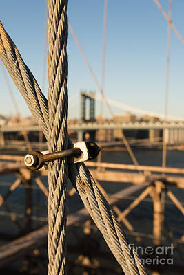 Photograph - Nuts And Bolts Of The Brooklyn Bridge by Alissa Beth Photography