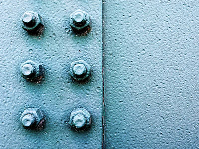 Blueish Photograph - Nuts And Bolts by Tom Druin