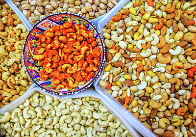 Photograph - Nuts At The Market by Alexey Stiop