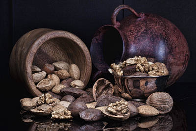Wooden Bowls Photograph - Nuts by Tom Mc Nemar