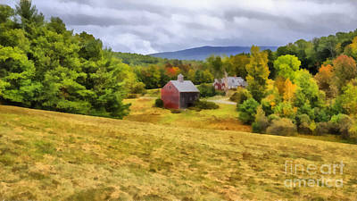 Etna Painting - Nutt Farm Etna Hanover New Hampshire by Edward Fielding