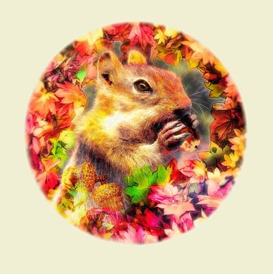 Digital Art - Nutty Squirrel by Bill Johnson