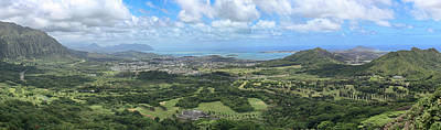 Photograph - Nuuanu Valley Panorama by Susan Rissi Tregoning