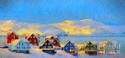 Painting - Nuuk, Greenland by Chris Armytage