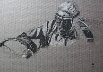 Formula One Drawing - Nuvolari by Nick Young