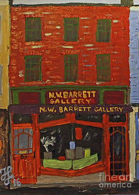 Painting - N.w.barrett Gallery by Francois Lamothe