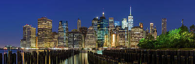 Photograph - Nyc At Night by Emmanuel Panagiotakis