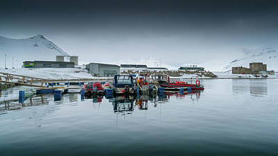 Photograph - Ny Alesund Harbour by James Billings