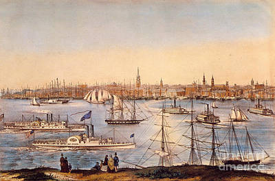Photograph - Ny: Brooklyn Heights, 1849 by Granger