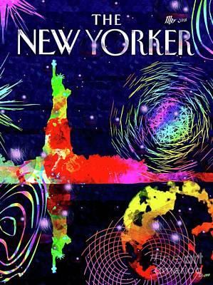 Mixed Media Royalty Free Images - NY City Bubbles Royalty-Free Image by Daniel Janda