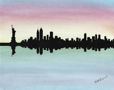 Painting - NY by Edwin Alverio