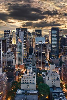 Manhattan Usa Photograph - Ny Evening Lights by Joachim G Pinkawa