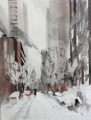 Painting - Ny In Snow by John Byram