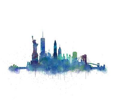 Ny New York City Skyline V2 Original by HQ Photo