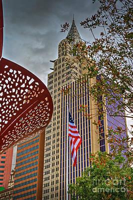 Photograph - Ny Ny American Flag Las Vegas by David Zanzinger