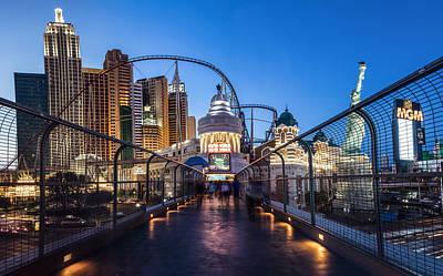 Photograph - Ny Ny Casino Crosswalk Blue Hour by John McGraw