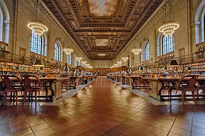 Ny Public Library Main Branch Art Print by Susan Candelario
